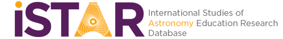 iSTAR – International STudies of Astronomy education Research database